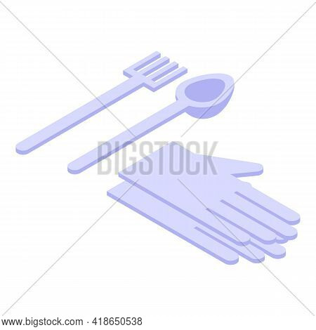 Kitchen Tools Icon. Isometric Of Kitchen Tools Vector Icon For Web Design Isolated On White Backgrou