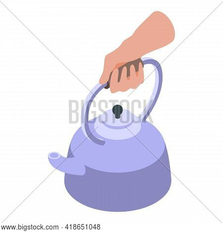 Boiling Water Icon. Isometric Of Boiling Water Vector Icon For Web Design Isolated On White Backgrou