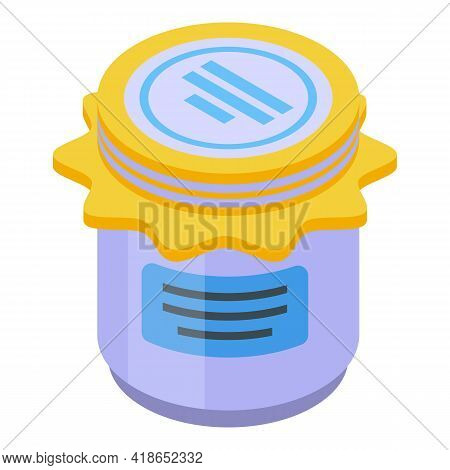 Dairy Jar Icon. Isometric Of Dairy Jar Vector Icon For Web Design Isolated On White Background