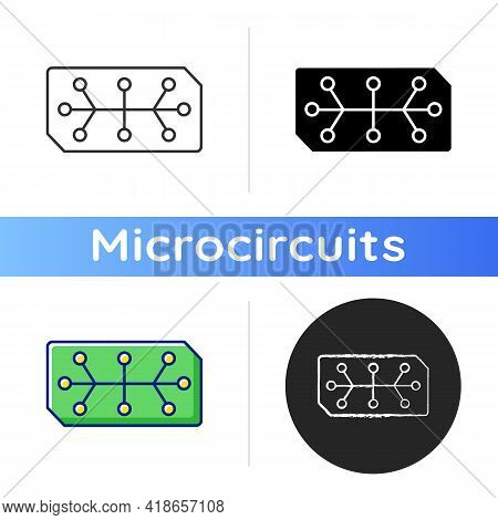 Electrical Computer Parts Icon. Parts In Electronic System Used To Affect Electrons Or Their Associa