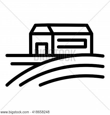 Ranch House Icon. Outline Ranch House Vector Icon For Web Design Isolated On White Background