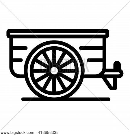Ranch Cart Icon. Outline Ranch Cart Vector Icon For Web Design Isolated On White Background