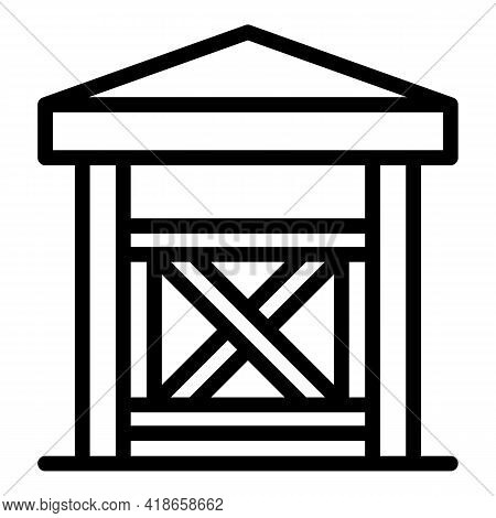 Ranch Wood Door Icon. Outline Ranch Wood Door Vector Icon For Web Design Isolated On White Backgroun