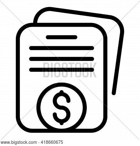 Compensation Icon. Outline Compensation Vector Icon For Web Design Isolated On White Background