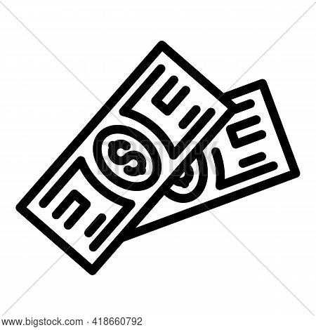 Compensation Money Cash Icon. Outline Compensation Money Cash Vector Icon For Web Design Isolated On