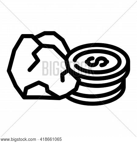 New Compensation Icon. Outline New Compensation Vector Icon For Web Design Isolated On White Backgro
