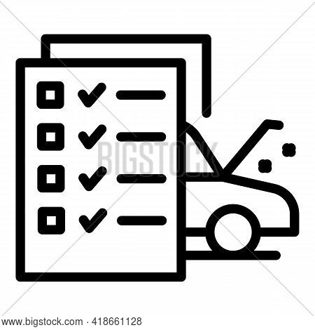 Car Compensation Icon. Outline Car Compensation Vector Icon For Web Design Isolated On White Backgro