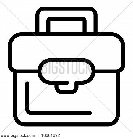 Liability Briefcase Icon. Outline Liability Briefcase Vector Icon For Web Design Isolated On White B