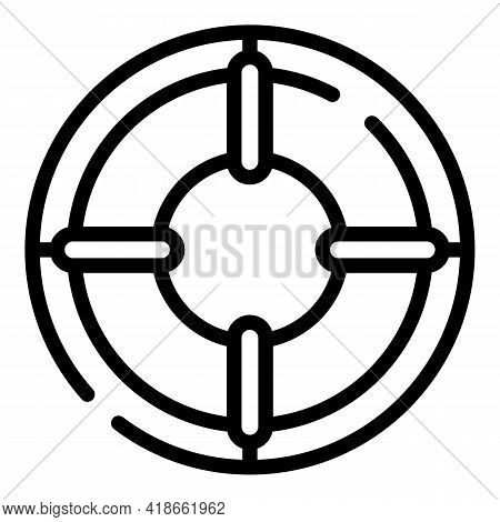 Liability Aim Target Icon. Outline Liability Aim Target Vector Icon For Web Design Isolated On White