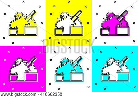 Set Murder Icon Isolated On Color Background. Body, Bleeding, Corpse, Bleeding Icon. Concept Of Crim