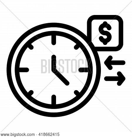 Time Payment Cancellation Icon. Outline Time Payment Cancellation Vector Icon For Web Design Isolate