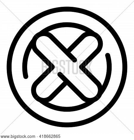 Reject Sign Payment Cancellation Icon. Outline Reject Sign Payment Cancellation Vector Icon For Web