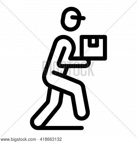 Rush Job Delivery Icon. Outline Rush Job Delivery Vector Icon For Web Design Isolated On White Backg