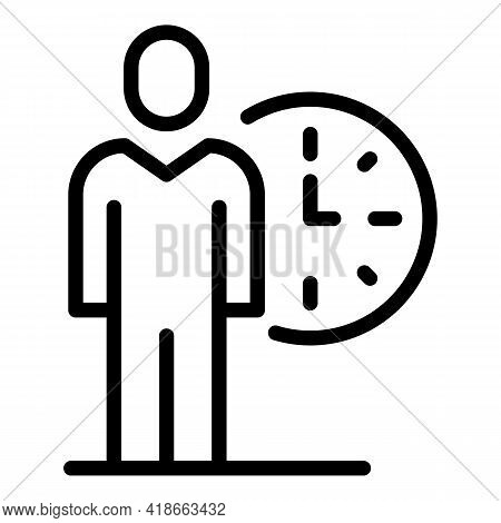 Rush Job Day Time Icon. Outline Rush Job Day Time Vector Icon For Web Design Isolated On White Backg