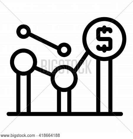 Result Money Graph Icon. Outline Result Money Graph Vector Icon For Web Design Isolated On White Bac