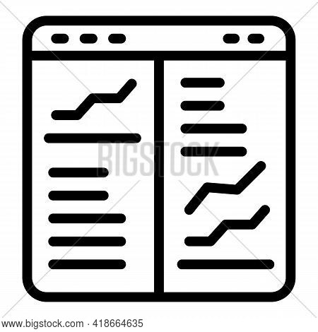 Result Money Web Page Icon. Outline Result Money Web Page Vector Icon For Web Design Isolated On Whi