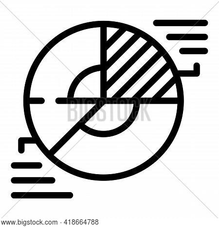 Result Money Pie Chart Icon. Outline Result Money Pie Chart Vector Icon For Web Design Isolated On W