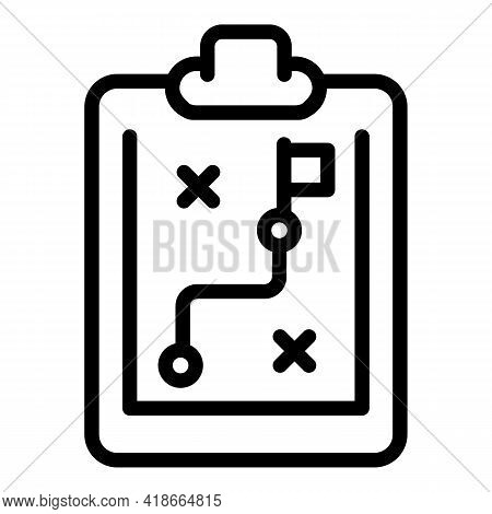 Result Money Clipboard Icon. Outline Result Money Clipboard Vector Icon For Web Design Isolated On W