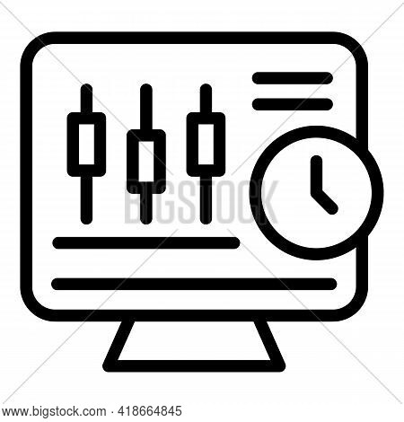 Result Money Equalizer Icon. Outline Result Money Equalizer Vector Icon For Web Design Isolated On W