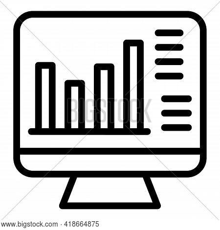 Result Money Broker Icon. Outline Result Money Broker Vector Icon For Web Design Isolated On White B