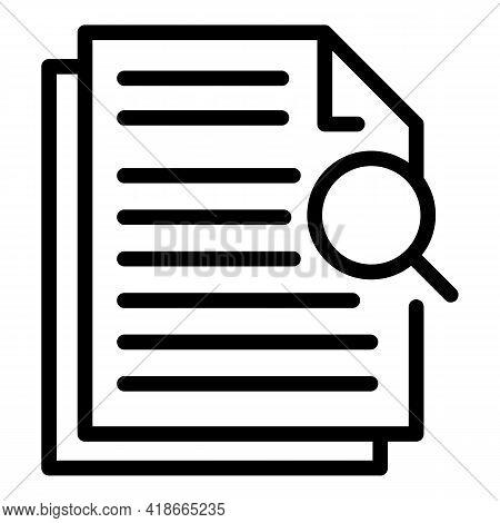 Analysis Market Studies Icon. Outline Analysis Market Studies Vector Icon For Web Design Isolated On