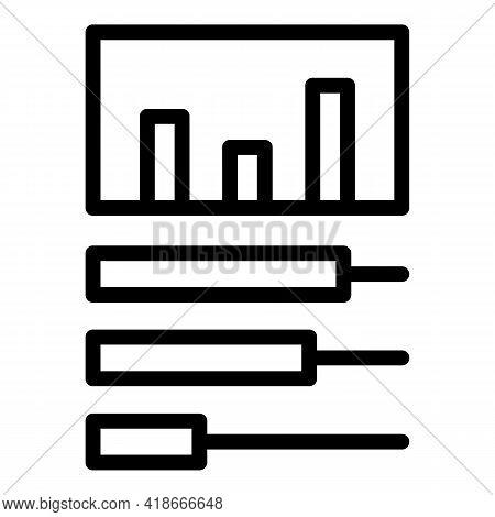 Big Data Statistics Icon. Outline Big Data Statistics Vector Icon For Web Design Isolated On White B