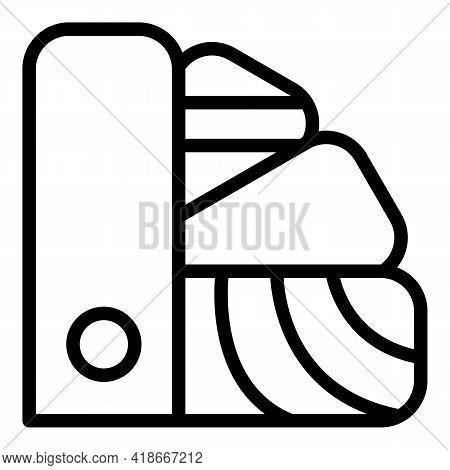Printer Palette Icon. Outline Printer Palette Vector Icon For Web Design Isolated On White Backgroun