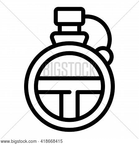 Scout Water Flask Icon. Outline Scout Water Flask Vector Icon For Web Design Isolated On White Backg