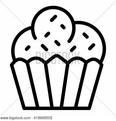 Muffin Icon. Outline Muffin Vector Icon For Web Design Isolated On White Background