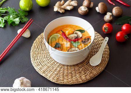 Tom Yum Soup. Thai Cuisine. Healthy Eating. Recipes.