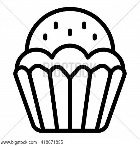 Bakery Muffin Icon. Outline Bakery Muffin Vector Icon For Web Design Isolated On White Background
