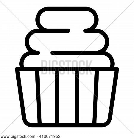 Holiday Muffin Icon. Outline Holiday Muffin Vector Icon For Web Design Isolated On White Background