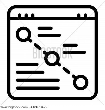 Purchase Tracking Icon. Outline Purchase Tracking Vector Icon For Web Design Isolated On White Backg