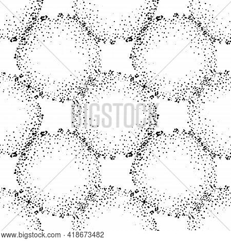 Doodle Doodle Circle Of Dots For Textile Design. Abstract Circle Art Background. Business Card. A Se