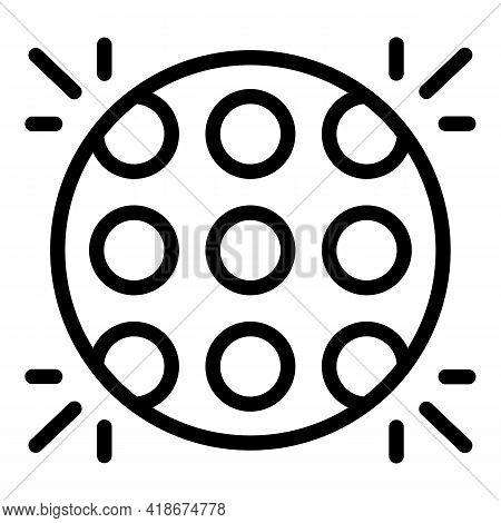 Disco Lights Icon. Outline Disco Lights Vector Icon For Web Design Isolated On White Background