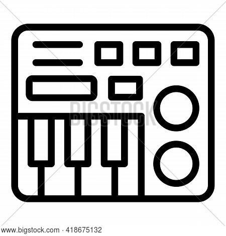 Musical Mixer Icon. Outline Musical Mixer Vector Icon For Web Design Isolated On White Background