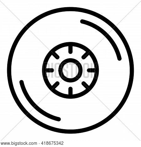 Party Musical Disc Icon. Outline Party Musical Disc Vector Icon For Web Design Isolated On White Bac