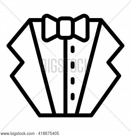 Party Suit Icon. Outline Party Suit Vector Icon For Web Design Isolated On White Background