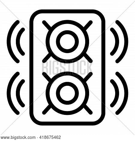 Party Speaker Icon. Outline Party Speaker Vector Icon For Web Design Isolated On White Background