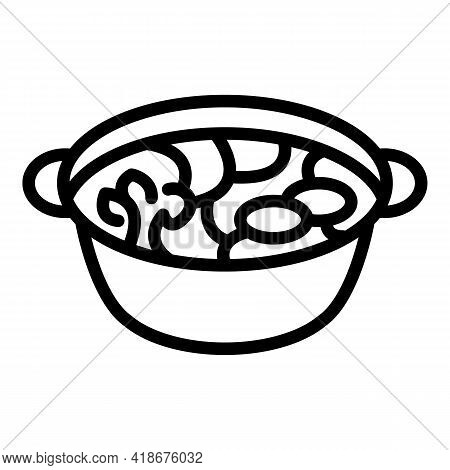 Korean Kimchi Icon. Outline Korean Kimchi Vector Icon For Web Design Isolated On White Background