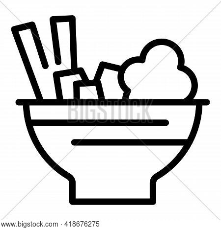 Delicious Korean Food Icon. Outline Delicious Korean Food Vector Icon For Web Design Isolated On Whi