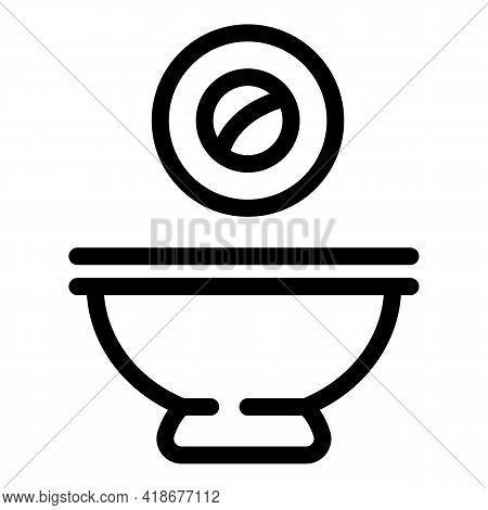 Roll Soy Sauce Icon. Outline Roll Soy Sauce Vector Icon For Web Design Isolated On White Background