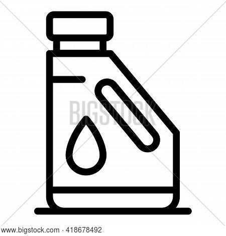 Kerosene Bottle Icon. Outline Kerosene Bottle Vector Icon For Web Design Isolated On White Backgroun