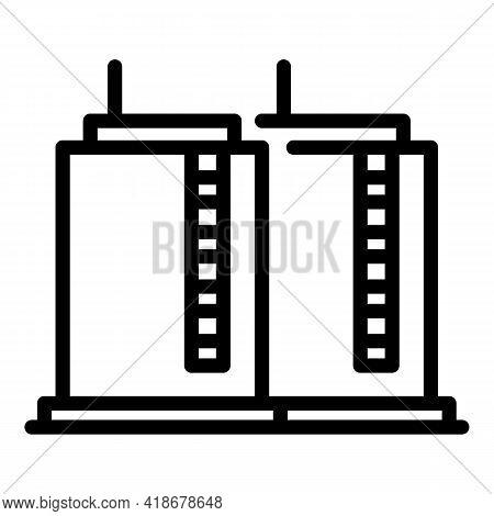 Kerosene Storage Icon. Outline Kerosene Storage Vector Icon For Web Design Isolated On White Backgro