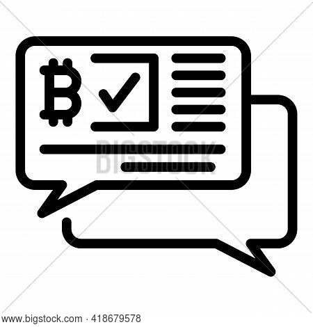 Investment Bitcoin Icon. Outline Investment Bitcoin Vector Icon For Web Design Isolated On White Bac