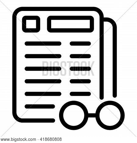 Management Realization Icon. Outline Management Realization Vector Icon For Web Design Isolated On W