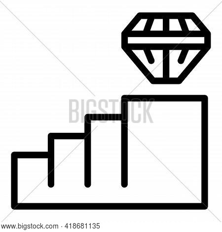 Career Path Icon. Outline Career Path Vector Icon For Web Design Isolated On White Background