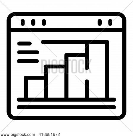 Strategic Realization Icon. Outline Strategic Realization Vector Icon For Web Design Isolated On Whi