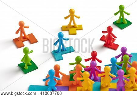 . Business Team Formation. Uniting To Achieve Lofty Goals. Human Society Management. Self Organized