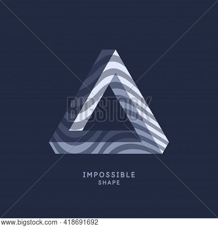 Impossible Geometric Shape. The Penrose Triangle. Isolated 3d Shape. A Graphic Element For Your Desi